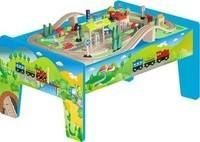 Great wooden train table including accessories at Love Maddie's - High quality children's furniture and toys!!