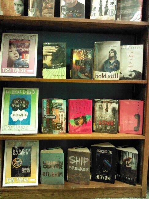 If you liked... Read-alike display for teens.
