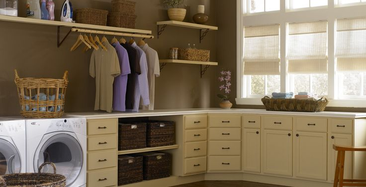 basement laundry colors n ideas...steelcase countertops etc