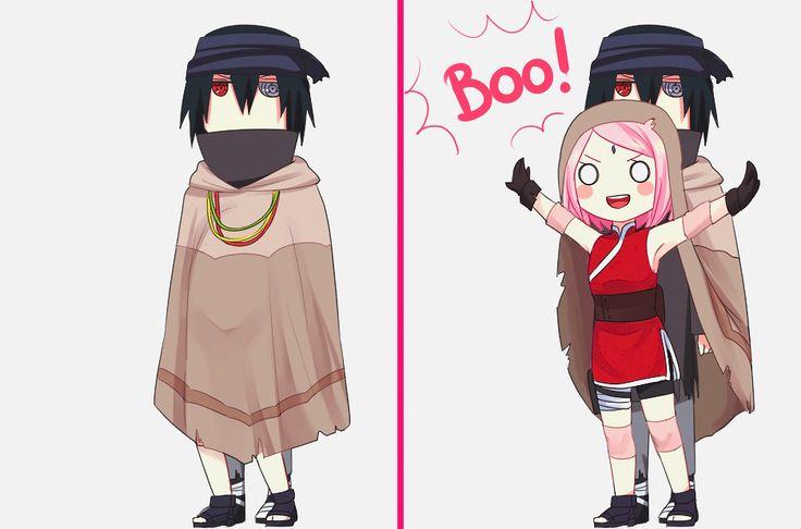 #Boo! #SasuSaku #Love #Cute