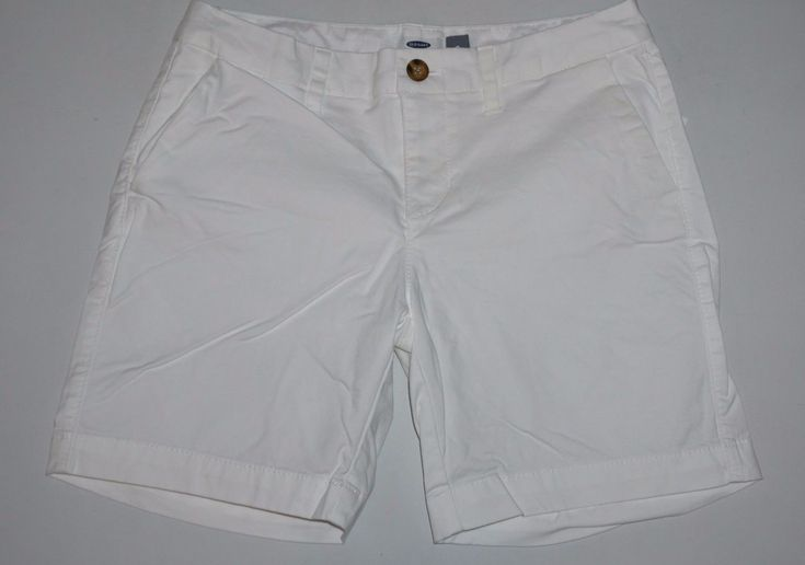 Old Navy Pure White Chino Shorts Women's Size 0 Nwt