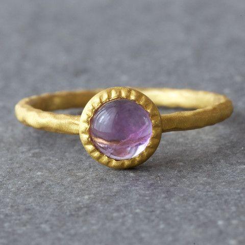 Hoop Amethyst Ring