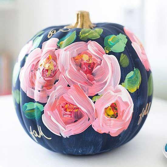 Floral and feminine pumpkin