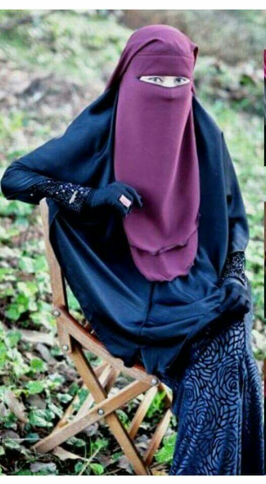 Deep Purple Niqab