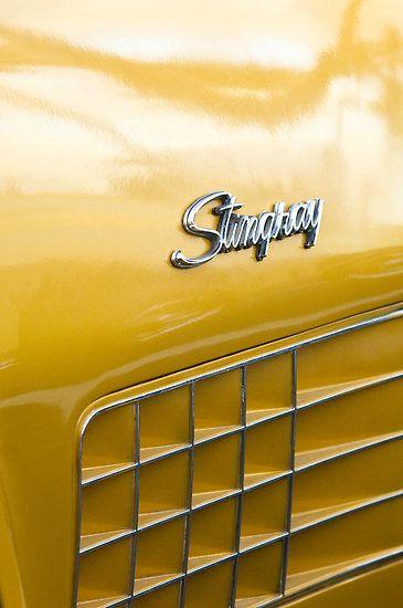 1972 Chevrolet Stingray Emblem by Jill Reger yellow