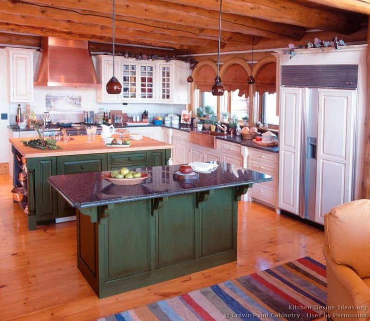#Kitchen Idea Of The Day: Log Home Kitchens. (By Crown Point Cabinetry