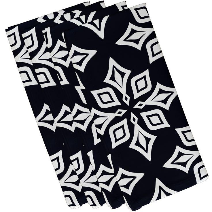 E by Design 19-inch x 19 inch Beach Star Print Napkin