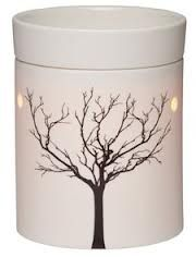 Scentsy Tilia Warmer - The simple, modern shape and glowing porcelain of Tilia allows the stark beauty of a tree in winter to shine through. Tilia is a real beauty of a warmer - dont forget to change the flag of the country you want to buy in on the top right hand side of the website #scentsytilia #scentsywarmer #candlelover