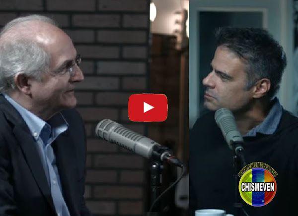 Luis Chataing entrevistando a Antonio Ledezma en su programa