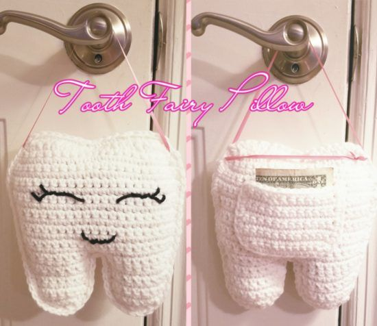 Crochet Tooth Fairy Pouch Pattern Video Tutorial