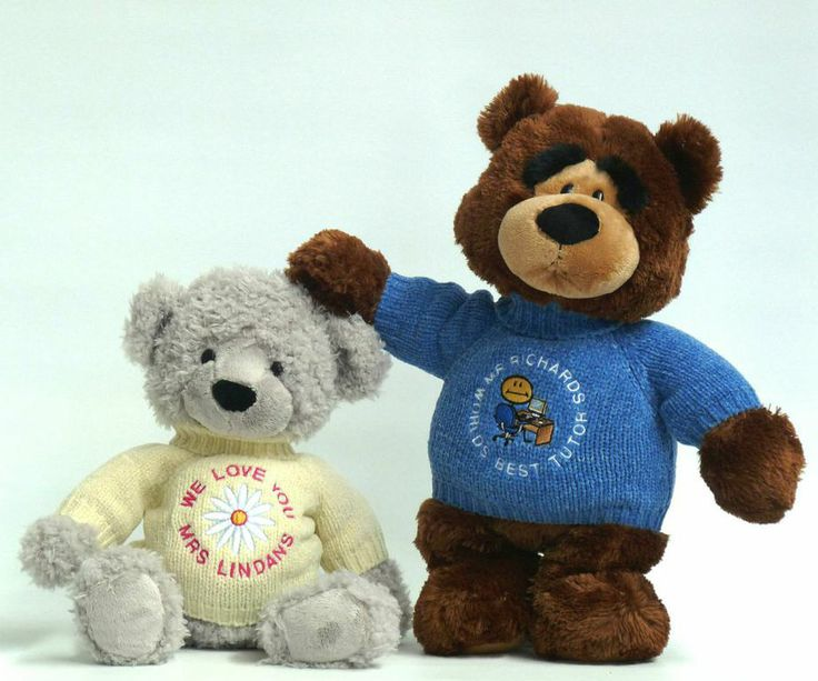 Looking for gifts for teachers?  A personalised teddy makes a perfect present idea for your teacher.