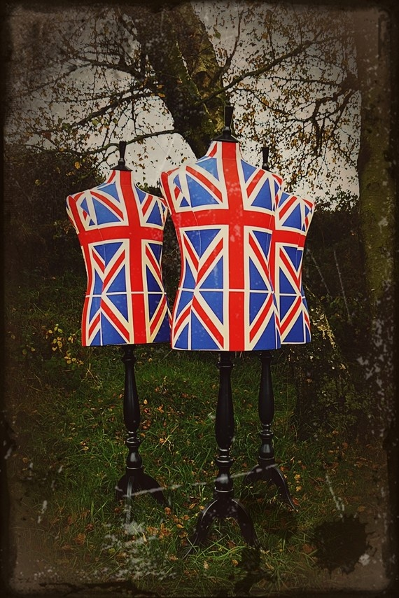 British Male Union Jack Flag Display by CorsetLacedMannequin, £190.00