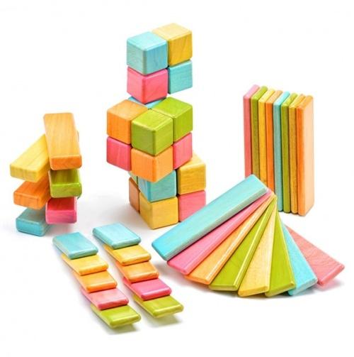 Original Set - Tints - Tegu - Blocks with embedded magnets, unleash their creativity.