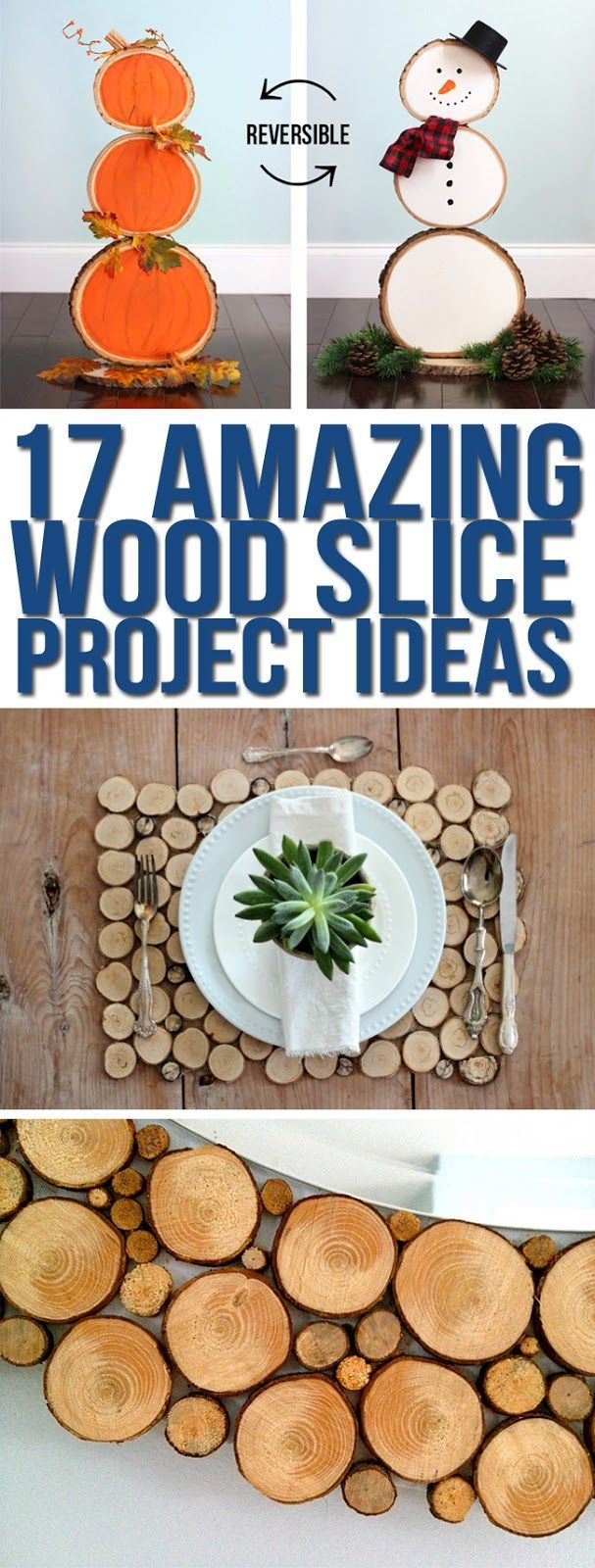 Cute wood slice project ideas. Wood slice craft ideas. Wood round projects #woodslices #wood #crafts
