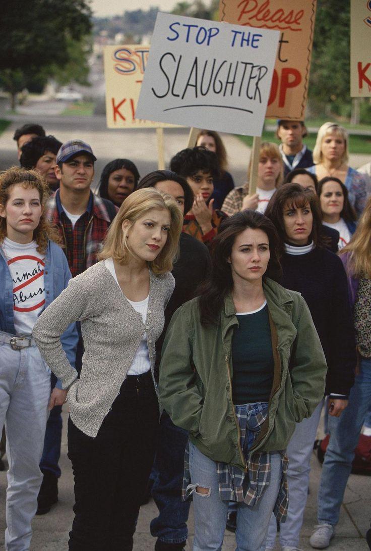 Tori Spelling, Shannen Doherty  - Saison 4 - Beverly Hills 90210 - © Paramount HE