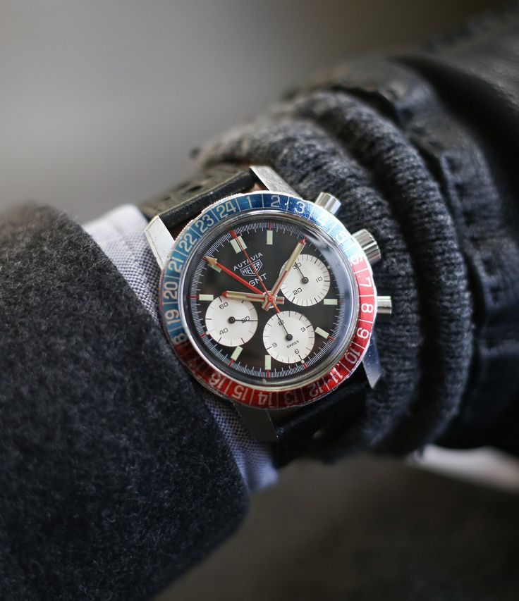vintage Heuer Autavia GMT 2446C steel watch at A Collected Man London