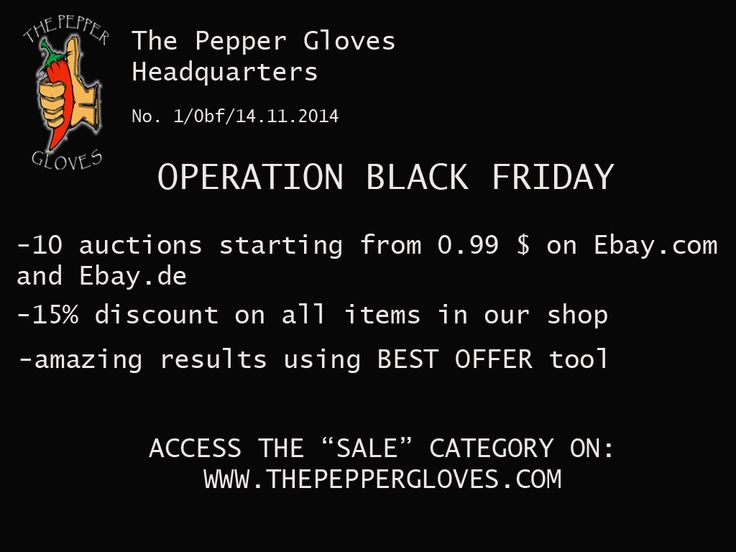 THE BLACK FRIDAY OPERATION