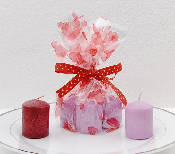 Mini Candles Gift Set. 4  candles Lilac Lavender Red Berries