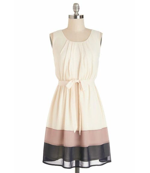 TW_5040 Short Off White Tiered Dress