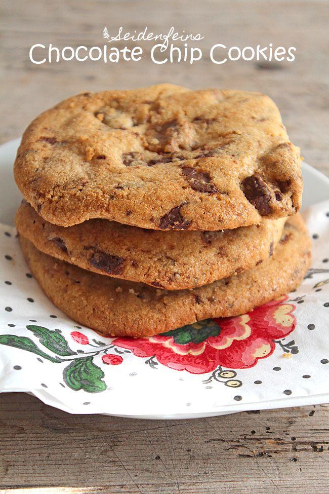 seidenfeins Blog vom schönen Landleben: Salzige Schokokekse ! salty .... Chocolate Chip Cookies : Rezept * Recipe