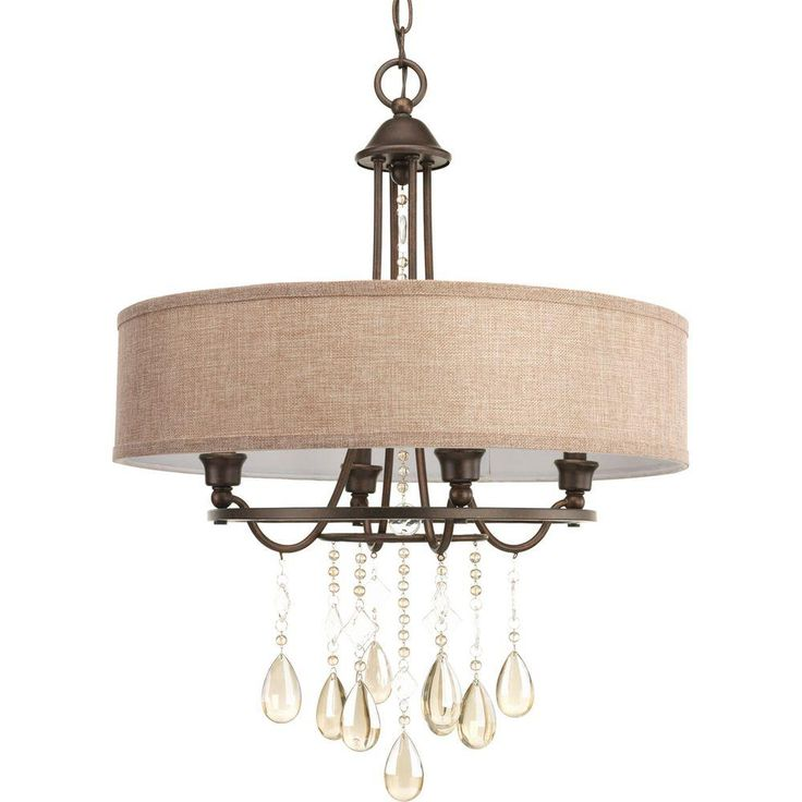 Progress Lighting Flourish Collection 4-Light Cognac Bronze Chandelier-P5169-72DI - The Home Depot