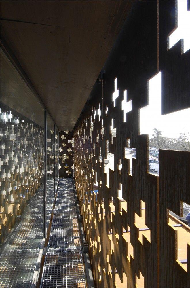 Rhine Falls Visitor Center, Laufen-Uhwiesen, Switzerland - Leuppi & Schafroth Architekten