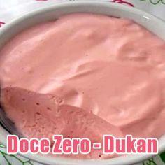 Doce Zero com gelatina e iogurte