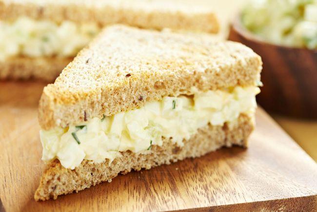 Egg mayonnaise sandwich filler