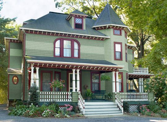 classic house colors paint light green | Exterior House Paint Colors