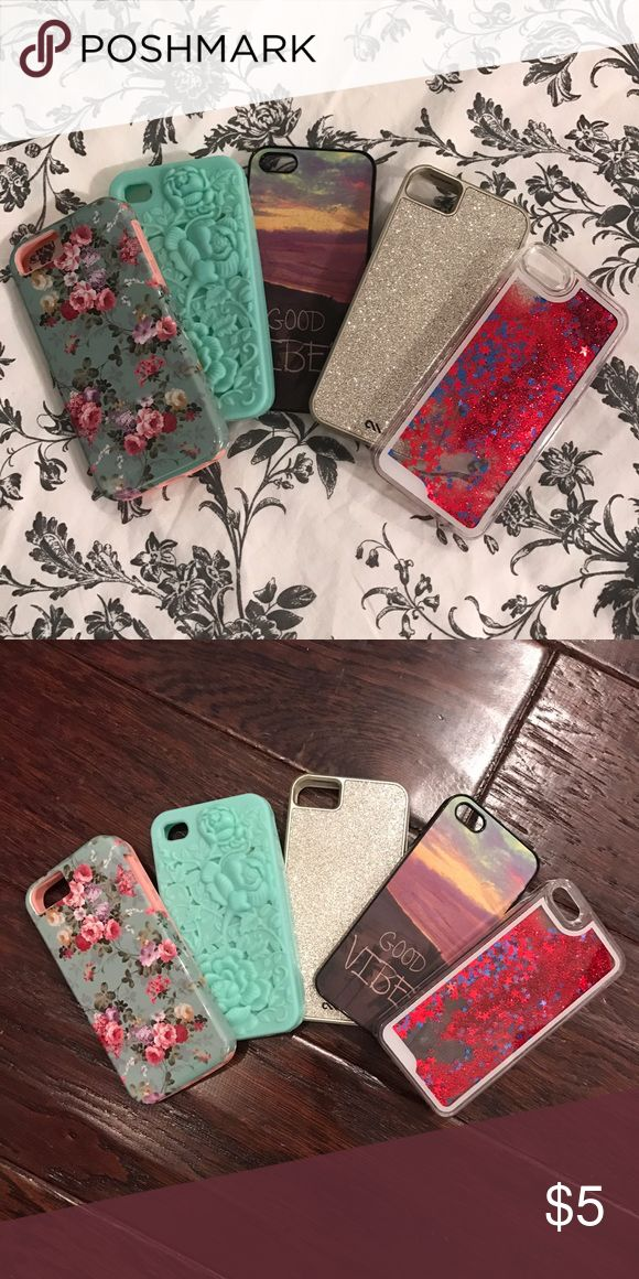 💲💲 iPhone 5 Cases For Sale!! 💲💲 All cases on sale for $5 each!! Add them to a bundle for up to %20 off!! Accessories Phone Cases