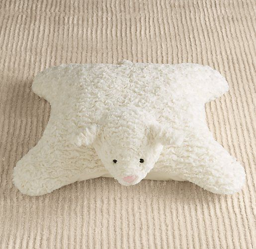 How To Make A Floor Pillow For Baby : Textured Plush Lamb Floor Pillow Nursery Accessories Restoration Hardware Baby & Child ...