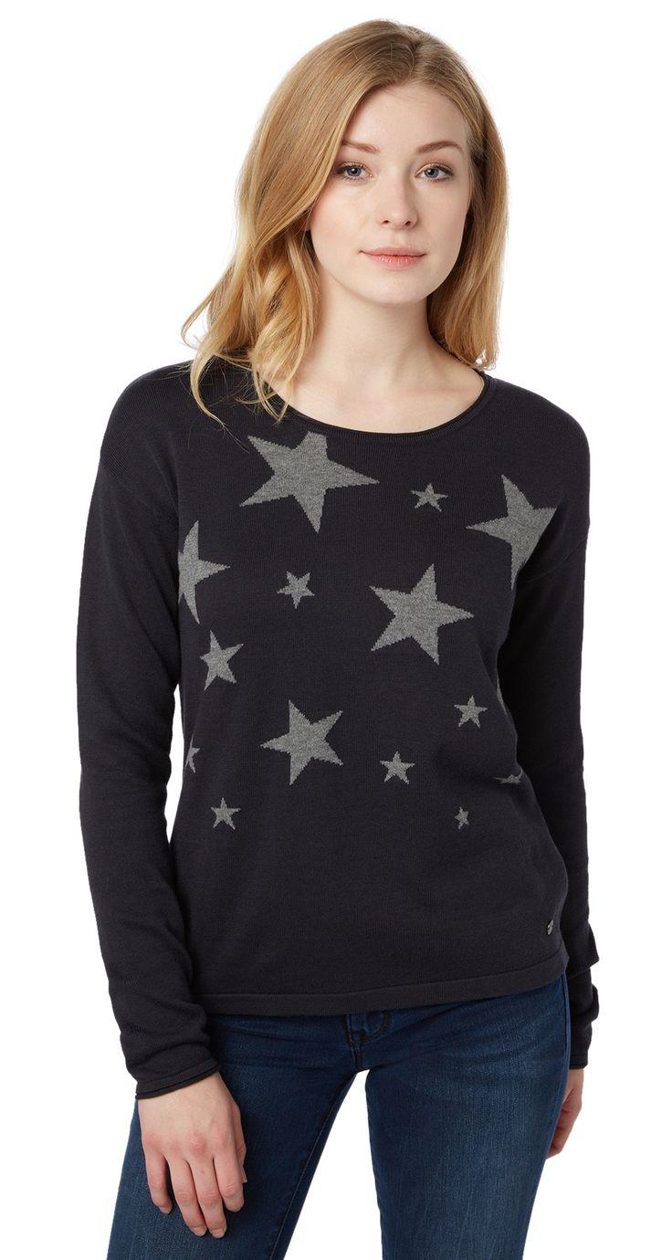 Pullover mit Sternen - star sweater von TOM TAILOR