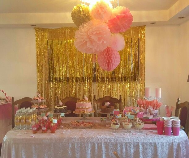 Pink and gold babyshower
