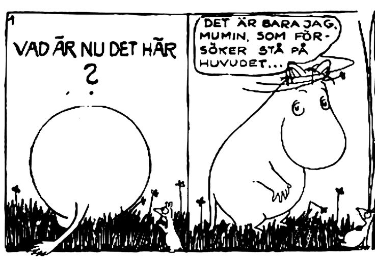 The very first moomin comic by Tove Jansson.