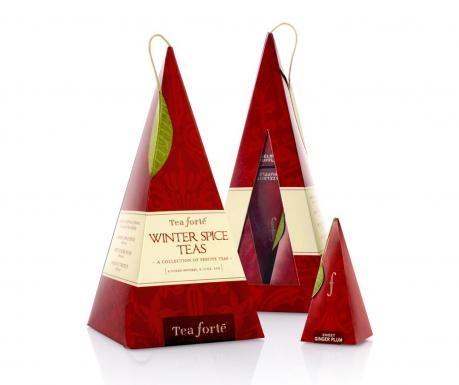 Sase infuzii sub forma de piramida reunite sub un ambalaj fermecator.  Arome de ceai: Harvest Apple Spice, Winter Chai, Hazelnut TruffleProdusele sunt valabile pana in luna Octombrie a anului 2013.