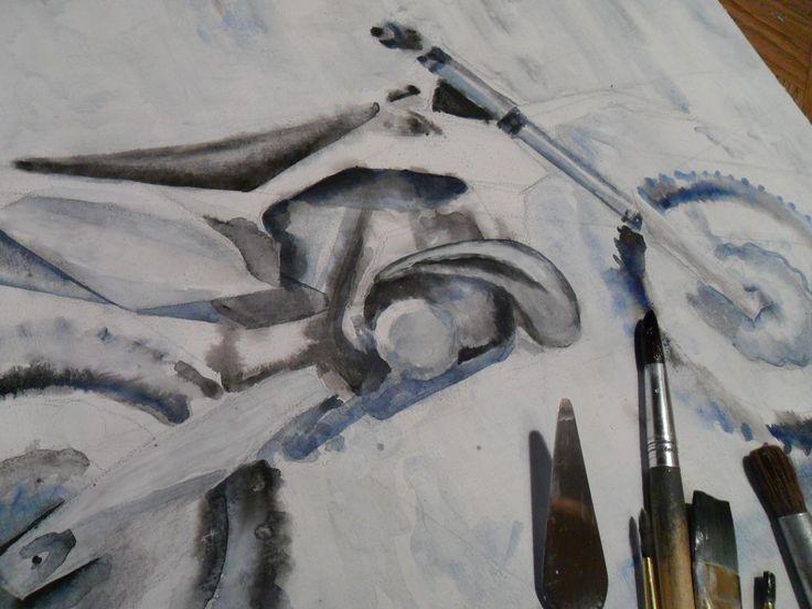 #acrylic_painting, #motoart, mx, motocross, enduro, #moto, #motorcycle, hand_drawing, #ktm