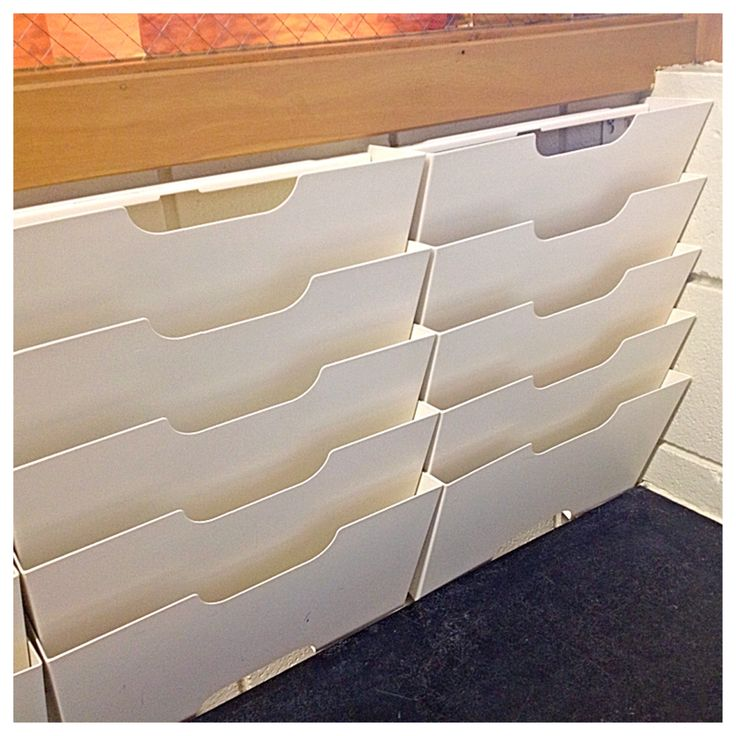 Clever Classroom Storage Solutions: Magazine wall-mount racks for CLASSROOM MAILBOXES