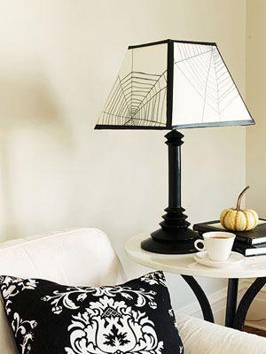 46 best halloween lamp shades images on pinterest holidays elegant gothic halloween decorations lampshade aloadofball Images