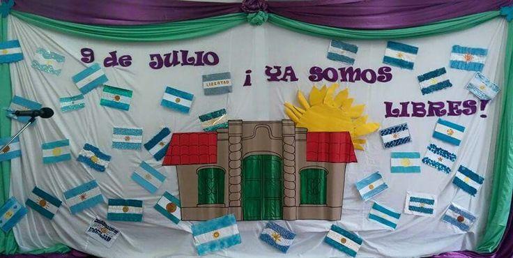 67 best acto 9 de julio images on pinterest carteleras for Decoracion 9 de julio primaria