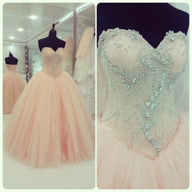 Wholesale Quinceanera Dresses - Buy Actual Image Quinceanera Dresses Vestidos De 15 Anos 2015 Pink Beaded Sweetehart Ball Gown Sweet 16 Party Prom Dresses Gowns VT, $156.03 | DHgate.com