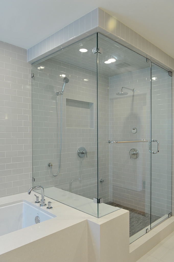 Love this bathroom. This is the closest I have found to what we are looking for minus the grab bars. But, that would be an easy fix!