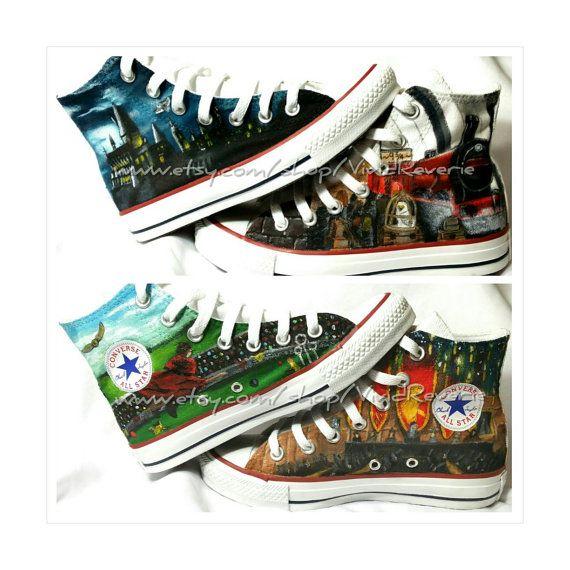Custom Harry Potter Shoes by VividReverie on Etsy