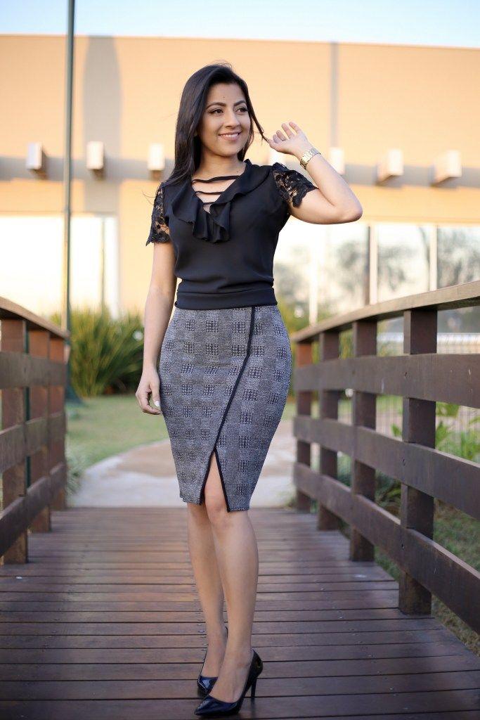 c738828d1 Saia Secretária Grafitte Roupas De Secretária, Roupas Da Moda, Vestido  Florido, Vestido Tubinho