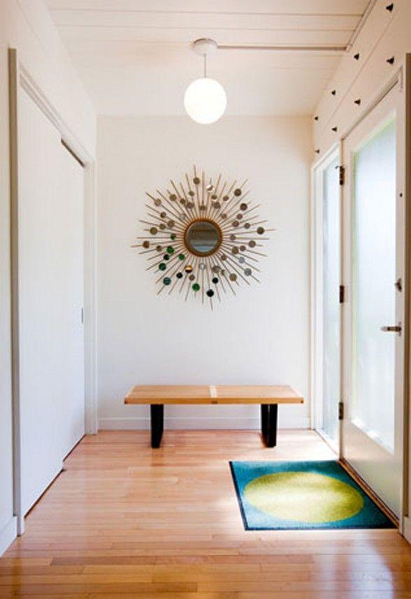 mid century modern decor | mid century decorative foyer idea