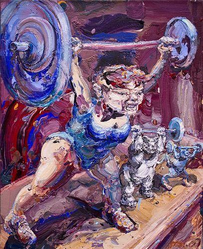 Michael Rittstein (Chech, 1949) - Weight Lifting, 2012