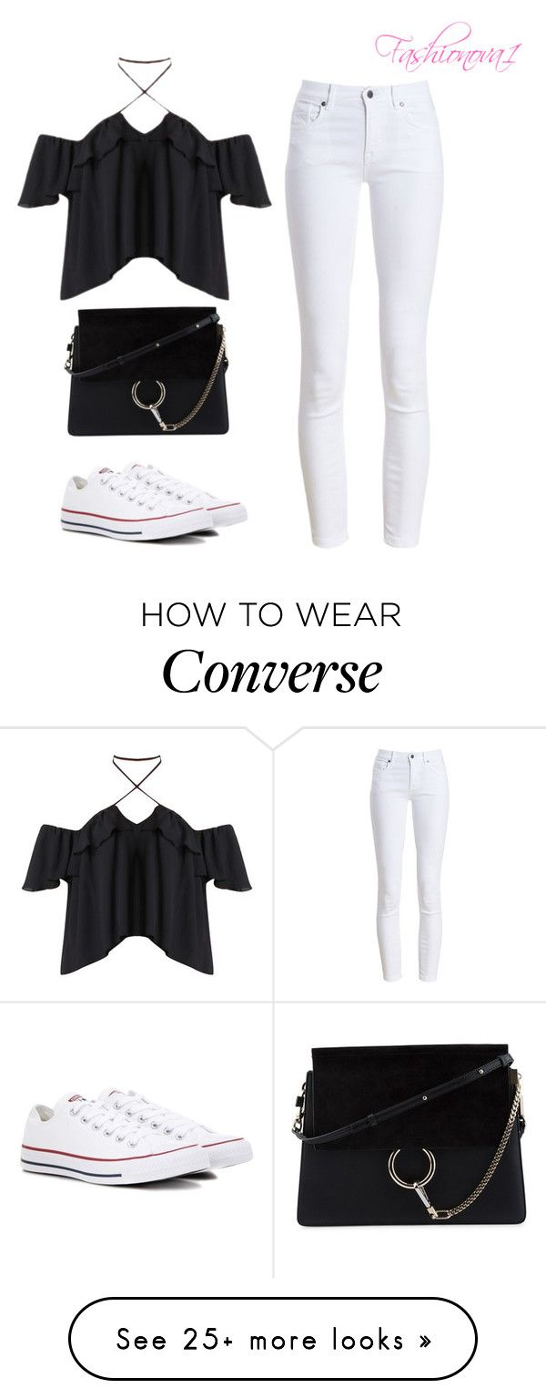 """And now I'm better off"" by fashionova1 on Polyvore featuring Barbour, Chloé and Converse"