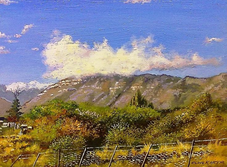 """#22 - """"Prince Albert Landscape"""" - 300 x 400mm (12 x 16 inches) oils and brush on block mounted board-  Delivery by international parcel post.Total price incl. del.= $75"""