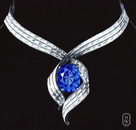 Harry Winston Hope Diamond. Part of me wishes they would have kept it in this setting.