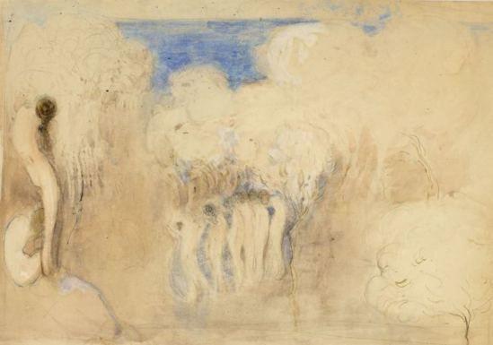 Boris Israëlevich Anisfeld. Group of nude women in a mist 1932