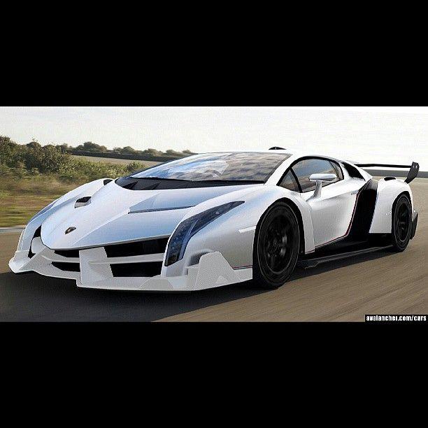 White and Black Lamborghini Veneno